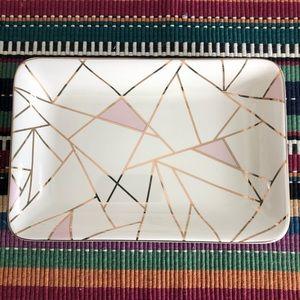 Triangle Summer & rose trinket ring holder / soap